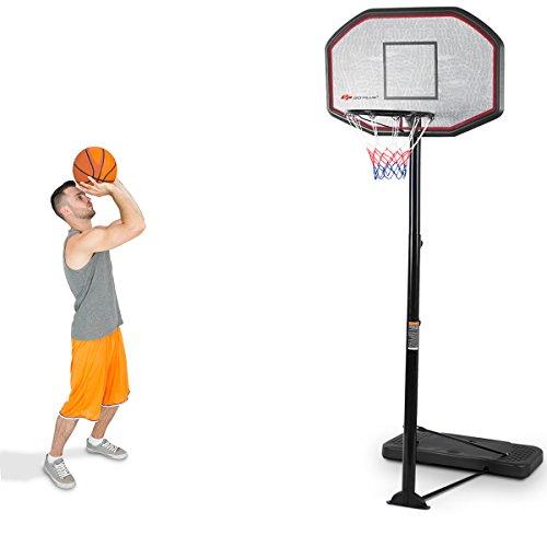 COSTWAY Basketballständer Basketballkorb mit Ständer Basketballanlage Korbanlage höhenverstellbar von 200 bis 305cm