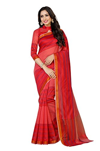 Mimosa By Kupinda Art Silk Saree Banarasi Style Color: Strawberry (4068-AB-302-STRW)  available at amazon for Rs.699
