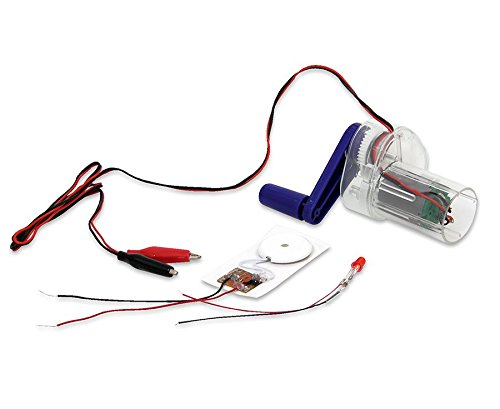 Betzold-Handdynamo-einfache-Stromerzeugung-inkl-Summer-LED-Kabel-mit-Krokodilklemmen-Dynamo-Hand-Kinder-Schler-Unterricht-Physik-Schule-Experimente-Strom-Experimente-experimentieren