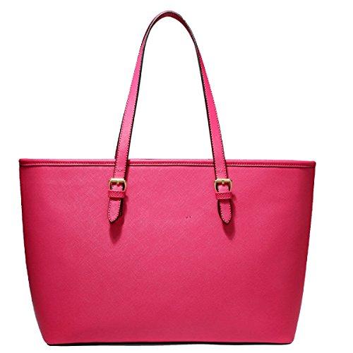 Borsa A Tracolla Tote Bag Donna Elegante Borsa Shopper Borsa In Pelle PU Borsa Donna A Mano Red
