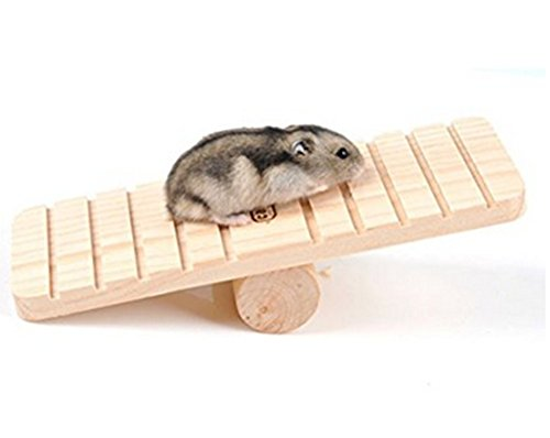 Mackur Holz Hamster Wippe Sport Spielzeug Zubehör Holz-Wippe Kleintiere Spielplatz Spielzeug 1 Stück