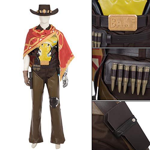 nihiug Beobachten Pioneer Bounty Hunter Cosplay Kostüm Kleidung Bühne Kostüm Hut weiblichen Erwachsenen - Bounty Hunter Kostüm