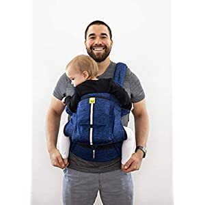 LÍLLÉbaby Complete Pursuit Pro 6-in-1 Baby Carrier Heathered, Sapphire   7