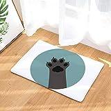 Nunbee Fußmatte Druck Designe Anti Rutsch Unterlage Wasseraufnahme Praktische Teppich Schmutzfangmatte Haustür Flur Innenbereich Aussen Lustig, Katze11 50 * 80cm