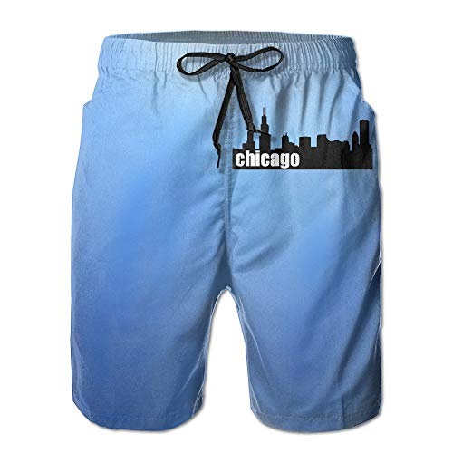 Pillowcase shop Chicago City Skyline Quick Dry Beach Board Shorts Swim Trunks X-Large