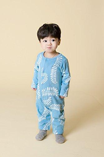 Vaenait baby 6-24M Jungen Infant one Piece Long Bodysuit Blue Laurel L Blue Laurel