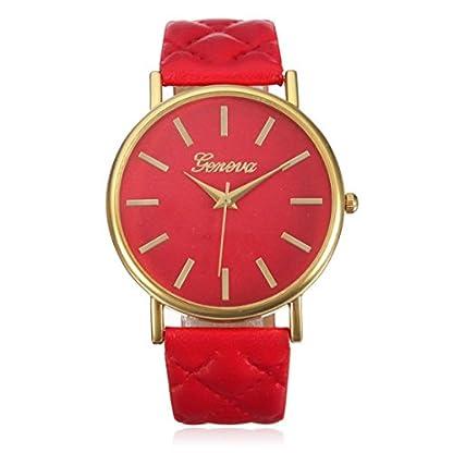 Franterd-Damen-Armbanduhr-Elegant-Uhr-Modisch-Zeitloses-Design-Klassisch-Leder-Rmische-Ziffern-Leder-analoge-Quarzuhr-Armbanduhr-Rot