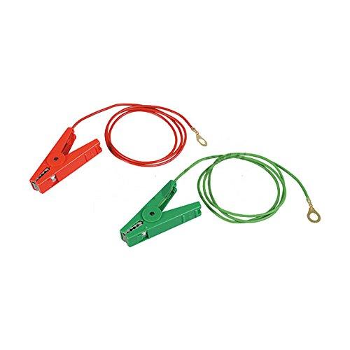 Jeu cables raccordement terre et clotureà oeillets 8 mm, pinces isolées, pour P35/P50, P250-P350 - 100901