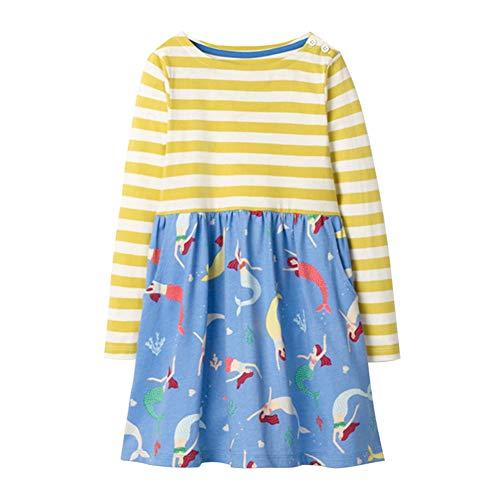 Meerjungfrau Kleider Für Kleine Mädchen - Fairy Baby Kleine Mädchen Beiläufig Kleid