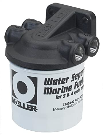 Moeller Water Separating Fuel Filter System (3/8 NPT, Cast Aluminum, Universal/Mercury/Yamaha)