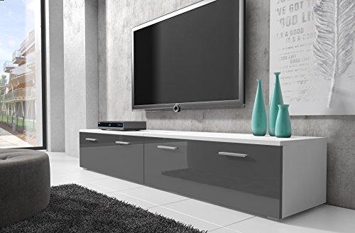 tv-mbel-lowboard-schrank-stnder-boston-korpus-wei-front-grau-hochglanz-200-cm