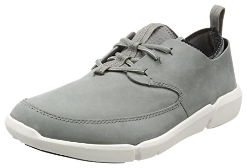 Clarks Herren Triflow Form Sneakers, Grau (Grey Nubuck), 44 EU