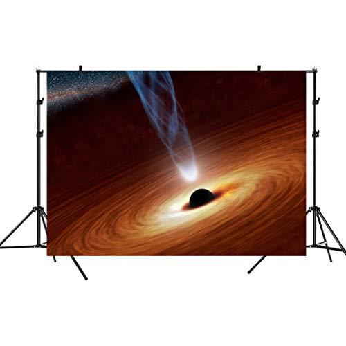 ToDIDAF Vinyl-Gewebe 1,5 * 0,9 m Fotografie-Hintergrund, Schwarzes Loch-Bild Fotografie-Hintergrund für Fotografie-Studio/professioneller Fotograf (H) -