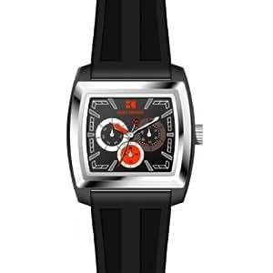 Hugo Boss - 1512604 - Montre Homme - Quartz Analogique - Cadran Noir - Bracelet Caoutchouc Noir