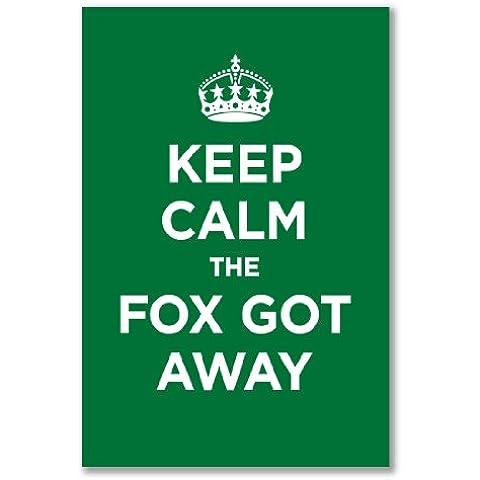 Art print-Poster, motivo: KEEP CALM, FOX l'erba più verde smeraldo capitano della seconda guerra mondiale, PARODY