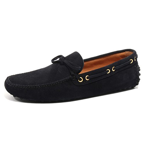 B2386 mocassino uomo CAR SHOE KUD scarpa blu loafer shoe man [6.5]