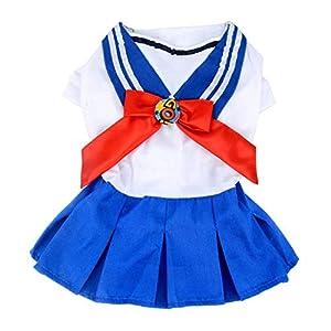 Handfly Petit Chien Uniforme Robe Chiot Capitaine Marin Vêtements Costume Pet Chien Princesse Robe Vêtements Costume Chien Anniversaire De Mariage Halloween Fête Costume Vêtements