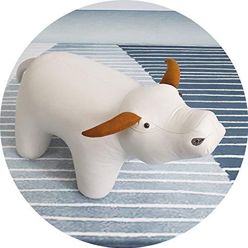 DreamZX Ottoman Kinderhocker Tiere Creative Cow Tier Hocker Kinder Cartoon Hocker, Haushaltscouchtisch Ändern Schuh Bench, Dekorative Geschenke Nordic Pig Tragen Schuhe Hocker (Farbe : A)