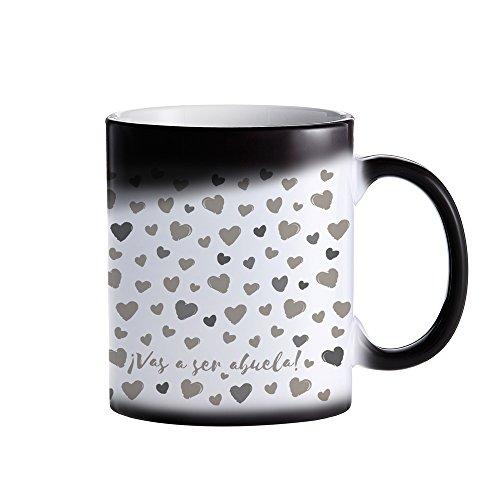 Tassenwerk – Taza Mágica de Cerámica – Cambia de Color – ¡Vas a ser Abuela! – Taza de café con Efecto Térmico – Idea para Regalo de futuras Abuelas