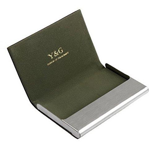 YDC05 Bester Visitenkarte-Halter-Leder-Karten-Kasten Ausgezeichneter Designer durch Y&G CC1014-Grün