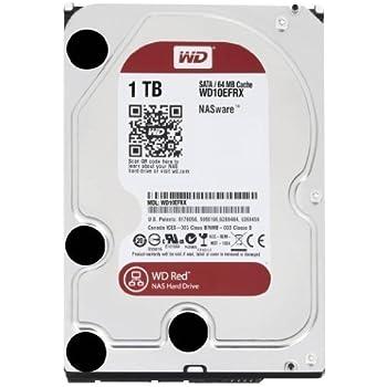 """WD Red - Disco duro para dispositivos NAS de sobremesa de 1 TB (Intellipower, SATA a 6 Gb/s, 64 MB de caché, 3,5"""") rojo"""