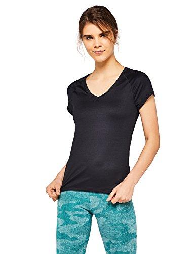 Foto de AURIQUE Camiseta Deportiva Mujer, Negro (Black), Medium