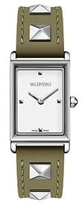 Valentino Rockstud Rectangular Stainless Steel Womens Strap Watch White Dial V59SBQ9901-S003