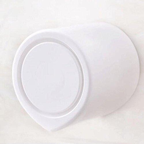 Pumpfach Toilettenpapier Handtuch Koffer Sauger Papier Handtuch Racks Traceless Toilettenpapier Papierhalter Bad Racks Wand hängen Taschentücherbox (Color : White)