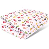 Mom's Home Organic Cotton Baby Quilt - Colourful Mushroom Print- 0-5 Years - 100 * 150 * 2 Cms