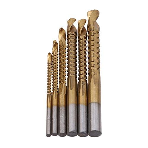 Preisvergleich Produktbild HYhy Spiralbohrer Schneiden Cutter Loch Holz Metall Titanium Coated Mini Bohrloch Set Holzbearbeitung Bohren
