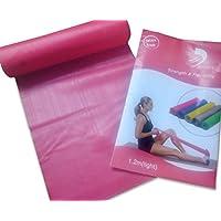 Rosa da ginnastica in gomma elastico resistenza e flessibilità Core Forza Formazione Allenamento Plus istruzioni