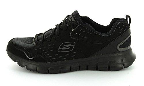 Skechers Synergy-A Lister, Chaussures de Sport Femme Noir