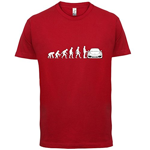 Preisvergleich Produktbild Evolution of Man - 911 Fahrer - Herren T-Shirt - Rot - XL