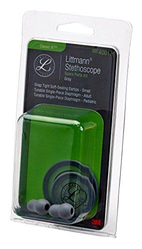 3M Littmann 40017 Stethoskop Ersatzteil-Set, Classic III, Grau