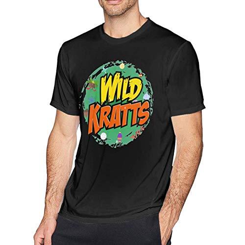 liuyang727000 Wild Kratts Men's Soft Tshirt Black (Shirts Wild Kratts)