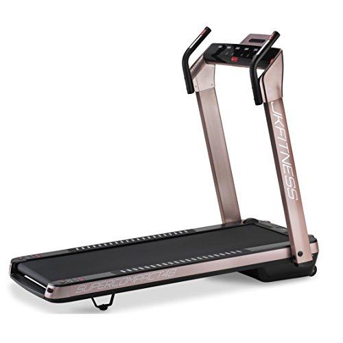 JK Fitness Tapis roulant SuperCompact 48 salvaspazio, 145 x 75 x 123 cm Aperto - 74 x 26 x 145 cm Chiuso, Rosa