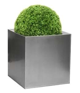 Zinc Galvanised Silver Cubes - XL 50cm