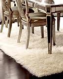Premium Shaggy Flokati Griechische Teppiche Elfenbein Farbe, von Rugs & Stuff–2000GSM–viele verschiedenen Größen, Wolle, beige, 90 x 160cm