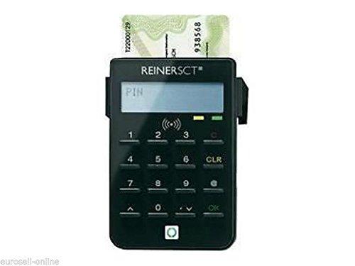 Preisvergleich Produktbild ReinerSCT RFID Personalausweislesegerät Ausweislesegerät Chip Karten Personalausweis Ausweis Lesegerät für Digitale Verifikation / Onlinebanking Chipartenleser
