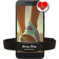 HRM-Run Fascia Cardio con fascia toracica nero intelligente Bluetooth e ANT + compatibile con molti orologi sportivi come Garmin, Polar e Sunnto (Sensore con Cintura di seno) Android & iOS Heartbeat