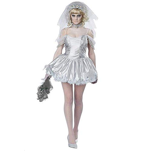 Sexy Kostüm Bride Corpse - Fashion-Cos1 Halloween Corpse Bride Kostüm Adult Ghost Bride Kostüm Damen Sexy Short Bride Cosplay Kleid
