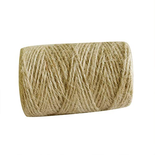 Seil für Juteseil, natürlich, 100 m, für Gartenarbeit, Basteln, Scrapbooking Craft Making