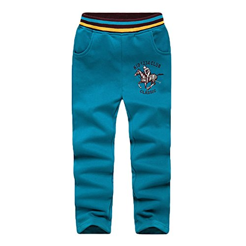 basadina jogginghose kinder jungen Sweatpants mit Golf Riding Stickerei, Sporthose für 4-10 Jahre alt