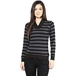 Hypernation Womens Cotton Long Sleeve Top (Hypw0516-M _Black _Medium)
