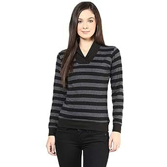 Hypernation Womens Cotton Shawl Long Sleeve Top (Hypw0516-S _Black _Small)