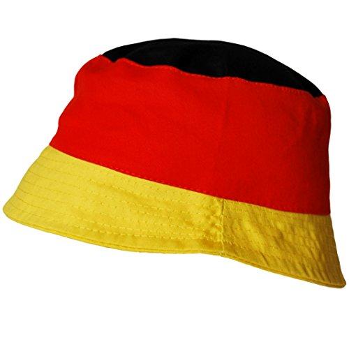 thb Richter Deutschland Malerhut Fanhut Fanartikel Fußball Fischerhut Deutschlandfarben WM EM Hut Hüte Fanclub Germany Fußball-hut