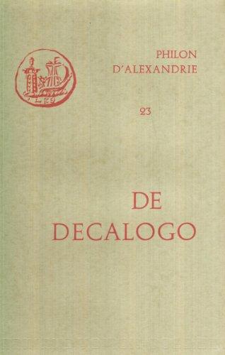 Oeuvres de Philon d'Alexandrie. De Decalogo, volume 23