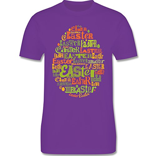 Ostern - Osterei Typografie bunt - Herren Premium T-Shirt Lila