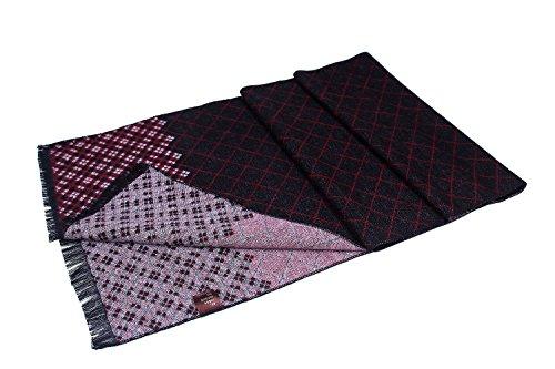 W.best men's cashmere scarf classic houndstooth plaid leisure business neckerchief