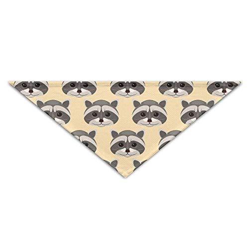 Sdltkhy Raccoon Head Repeat Pet Scarf Dog Cat Bandana Collars Triangle Neckerchief (Cat Head Kostüm Muster)